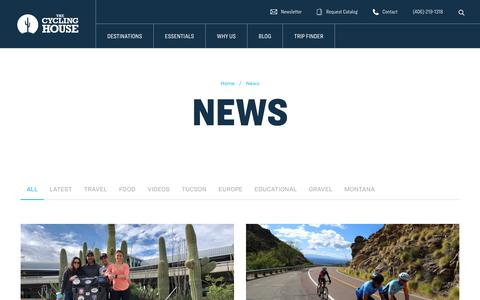 Screenshot of Press Page thecyclinghouse.com - Cycling House Blog | News on our Cycling & Triathlon Trips - captured Nov. 29, 2019