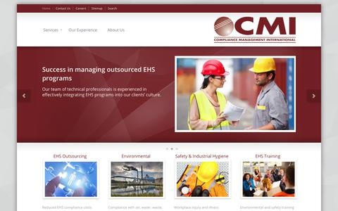 Screenshot of Home Page complianceplace.com - Compliance Management International - captured Sept. 29, 2018