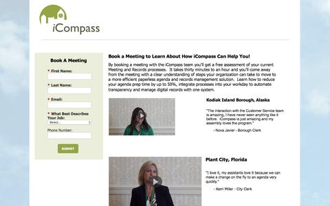 Screenshot of Landing Page icompasstech.com - Contact Us | iCompass Technologies - captured May 20, 2016