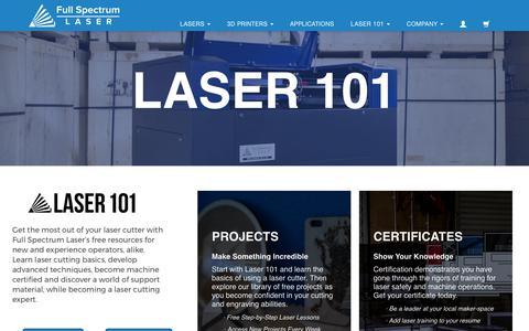 Laser 101 Home