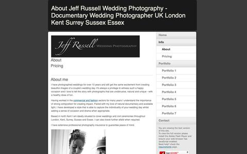 Screenshot of About Page jrweddingphoto.co.uk - About Jeff Russell Wedding Photography - Documentary Wedding Photographer UK London Kent Surrey Sussex Essex - captured Oct. 13, 2018