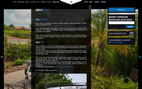 Screenshot of About Page flowbonaire.com - About Flow - - captured Sept. 30, 2014