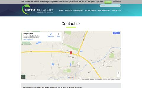 Screenshot of pivotalnetworks.co.uk - Contact us | Pivotal Networks - captured Sept. 27, 2015