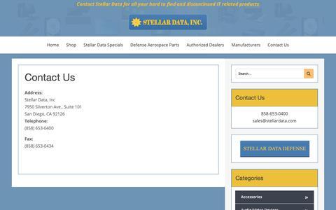Screenshot of Contact Page stellardata.com - Contact Us - captured Oct. 18, 2018