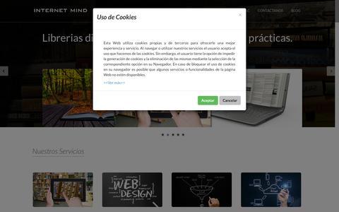 Screenshot of Home Page internet-mind.com - Internet Mind, desarrollo de aplicaciones informáticas y diseño web - captured Sept. 30, 2014