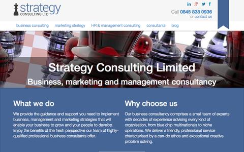 Screenshot of Home Page strategyconsultingltd.com - Strategy Consulting Limited - Business & Marketing Strategy Consultants - captured Oct. 7, 2014