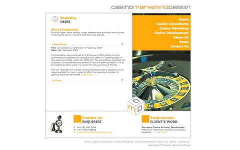 Screenshot of Press Page casinomarketingdesign.co.uk - Casino Marketing Design - News - captured Sept. 26, 2014