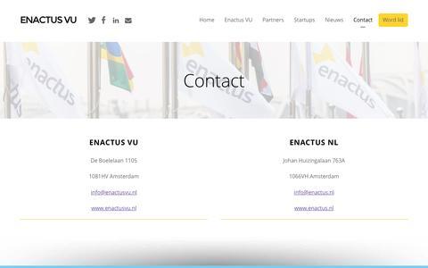 Screenshot of Contact Page enactusvu.nl - Contact - Enactus VU - captured Nov. 8, 2016