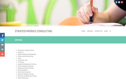 Screenshot of Site Map Page strategyworks.in - sitemap |StrategyWorks Consulting - captured Oct. 9, 2014