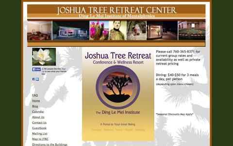 Screenshot of Pricing Page jtrcc.org - Joshua Tree Retreat Center - Pricing - captured Oct. 6, 2014