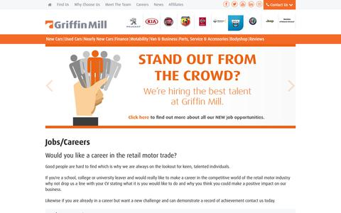 Screenshot of Jobs Page griffinmill.co.uk - Careers | South Wales | Griffin Mill - captured Sept. 30, 2018