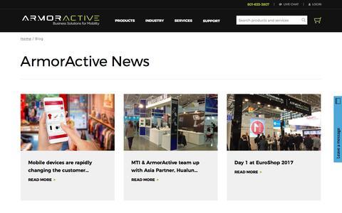 Screenshot of Blog armoractive.com - Blog | ArmorActive - captured May 30, 2017