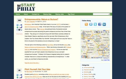 Screenshot of Team Page startphilly.com - Team | Start Philly - Startups in and about Philadelphia - captured Oct. 29, 2014