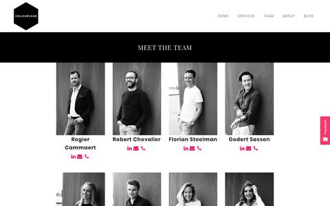 Screenshot of Team Page colourcake.com - Meet the team - Colourcake - The Marketing Support Agency - captured Oct. 9, 2017