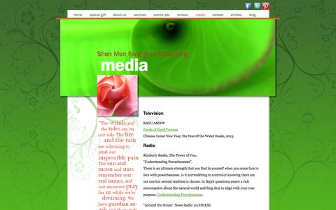 Screenshot of Press Page shenmenfengshui.com - Media | Shen Men Feng Shui Consulting - captured Oct. 9, 2014