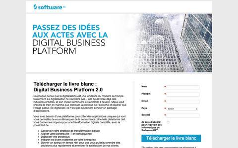 Screenshot of Landing Page softwareag.com - Digital Business Platform 2.0 - captured June 5, 2018