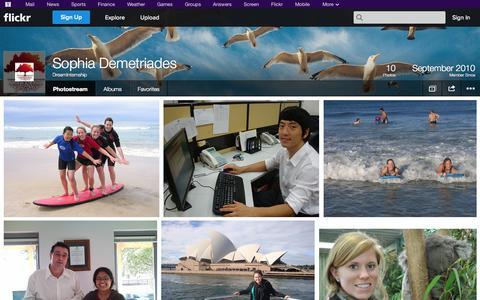 Screenshot of Flickr Page flickr.com - Flickr: DreamInternship's Photostream - captured Oct. 23, 2014