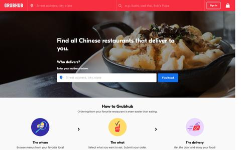 Chinese Food Delivery | Chinese Restaurant Delivery | Grubhub