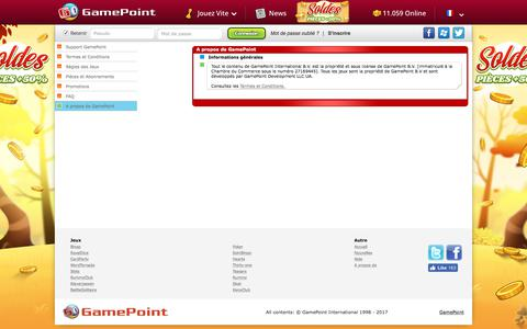 Screenshot of About Page gamepoint.com - Help • GamePoint - captured Oct. 6, 2017