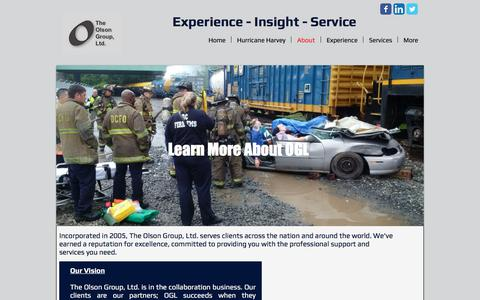 Screenshot of About Page olsongroupltd.com - About - captured Oct. 23, 2017