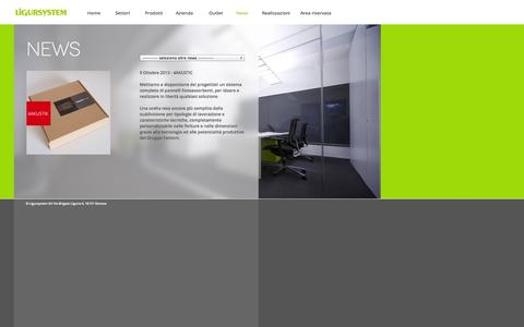 Screenshot of Press Page ligursystem.com - Ligursystem - Progettazione e servizi per l'ufficio e l'home living - captured Sept. 30, 2014
