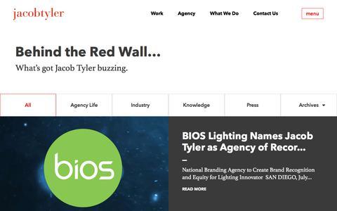 Screenshot of Blog jacobtyler.com - Branding Agency San Diego - Web Design Talk | Jacob Tyler - captured Sept. 23, 2018