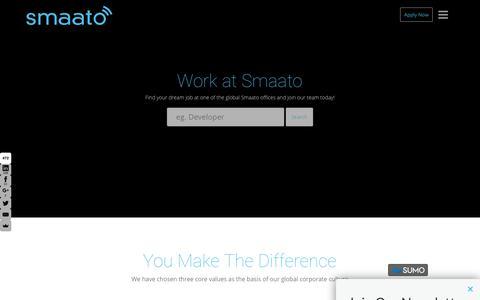Screenshot of Jobs Page smaato.com - Work at Smaato - captured Aug. 14, 2017