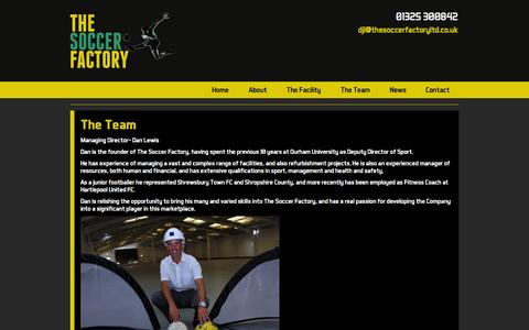 Screenshot of Team Page the-soccerfactory.co.uk - The Soccer Factory - The Team - captured Sept. 30, 2014
