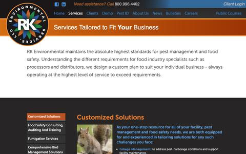 Screenshot of Services Page rkenvironmental.com - Services – RK Environmental Pest Management Solutions - captured Oct. 18, 2018