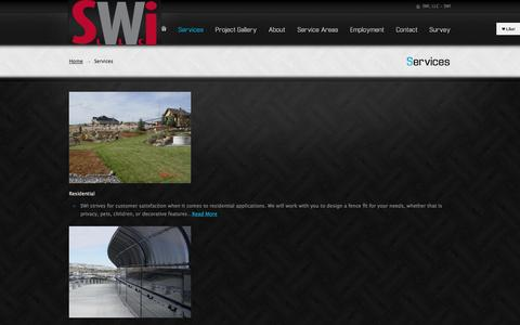Screenshot of Services Page swiwyoming.com - Services | SWi Wyoming, Gate Installer, Fencing, Landscaping Powell Wyoming - captured Oct. 27, 2014