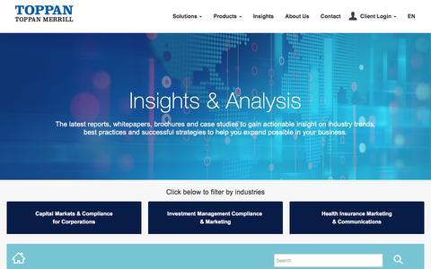 Screenshot of Blog toppanmerrill.com - SEC Proposes Amendments to Financial Disclosures in M&A - captured June 28, 2019