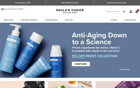 Screenshot of Home Page paulaschoice.com - Shop Paula's Choice | Paula's Choice - captured Jan. 9, 2020