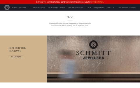 Screenshot of Blog schmittjewelers.com - Blog Archives - Schmitt Jewelers - captured Dec. 9, 2018