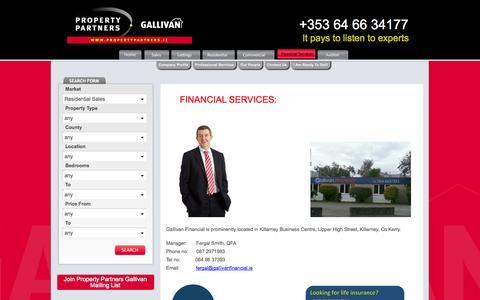 Screenshot of Services Page gallivanireland.com - Services - Gallivan Ireland - captured Oct. 3, 2014