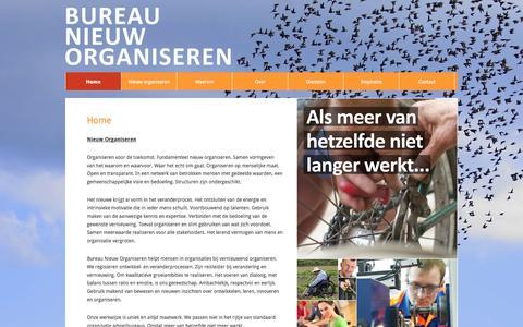 Screenshot of Home Page bureau-nieuw-organiseren.nl - Home - Bureau Nieuw Organiseren - captured Sept. 30, 2014