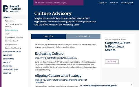 Culture Advisory | Candidate Assessment | Russell Reynolds Associates