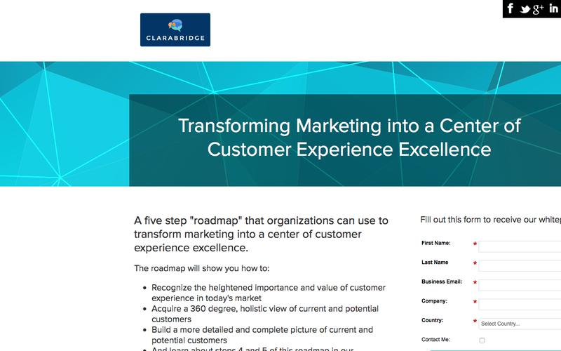 Clarabridge: Transforming Marketing into a center of customer experience excellence