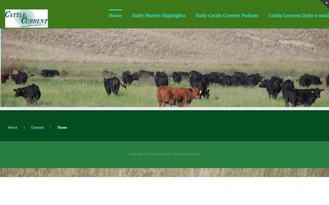 Screenshot of Home Page cattlecurrent.com - Cattle Current Market Update - captured Sept. 27, 2018