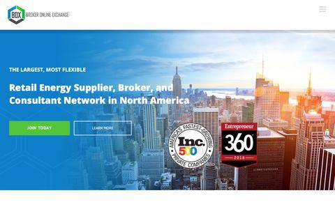 Screenshot of Home Page brokeronlinexchange.com - Home Page - Broker Online Exchange - captured Aug. 23, 2019