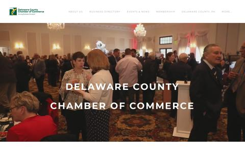 Screenshot of Home Page delcochamber.org - Delaware County Chamber of Commerce - Delaware County Chamber of Commerce | 1001 Baltimore Pike, Suite 9 LL, Springfield, PA | 610-565-3677 - captured Oct. 8, 2018
