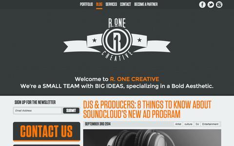 Screenshot of Blog r1creative.net - Blog | - captured Oct. 27, 2014