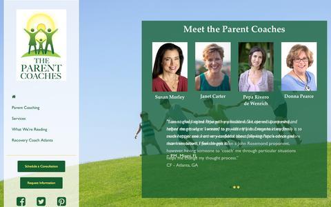 Screenshot of Home Page parentcoachatlanta.com - Parent Coach Atlanta | The Parent Coaches - captured May 14, 2017