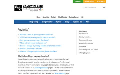 Screenshot of FAQ Page baldwinemc.com - Service FAQ | Baldwin EMC - captured Dec. 29, 2015