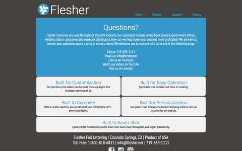 Screenshot of FAQ Page flesher.net - Contact Flesher - captured Jan. 27, 2018