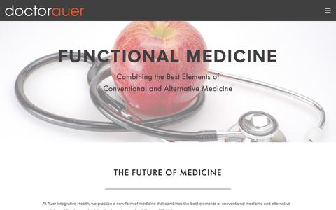 Screenshot of Services Page doctorauer.com - Functional Medicine — Auer Integrative Health - captured Oct. 9, 2017