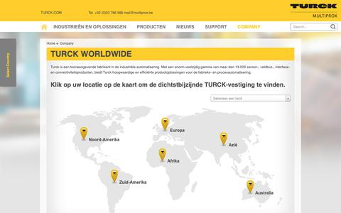 Screenshot of Locations Page multiprox.be - Turck Worldwide - MULTIPROX n.v. - captured Oct. 19, 2018