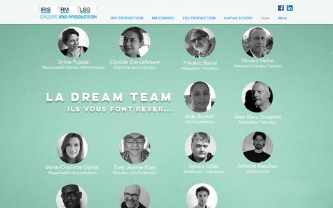 Screenshot of Team Page iris-production.fr - IRIS Production Groupe | Team - captured Oct. 15, 2017