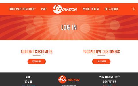 Screenshot of Login Page funovation.com - Log In Portal • Funovation - captured Sept. 4, 2018