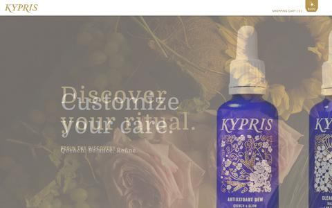 Screenshot of Home Page kyprisbeauty.com - KYPRIS - captured Oct. 6, 2014