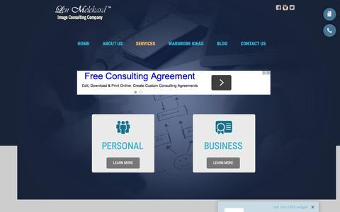 Screenshot of Services Page lenmelekard.com - Len Melekard™ | Services - captured Jan. 28, 2016